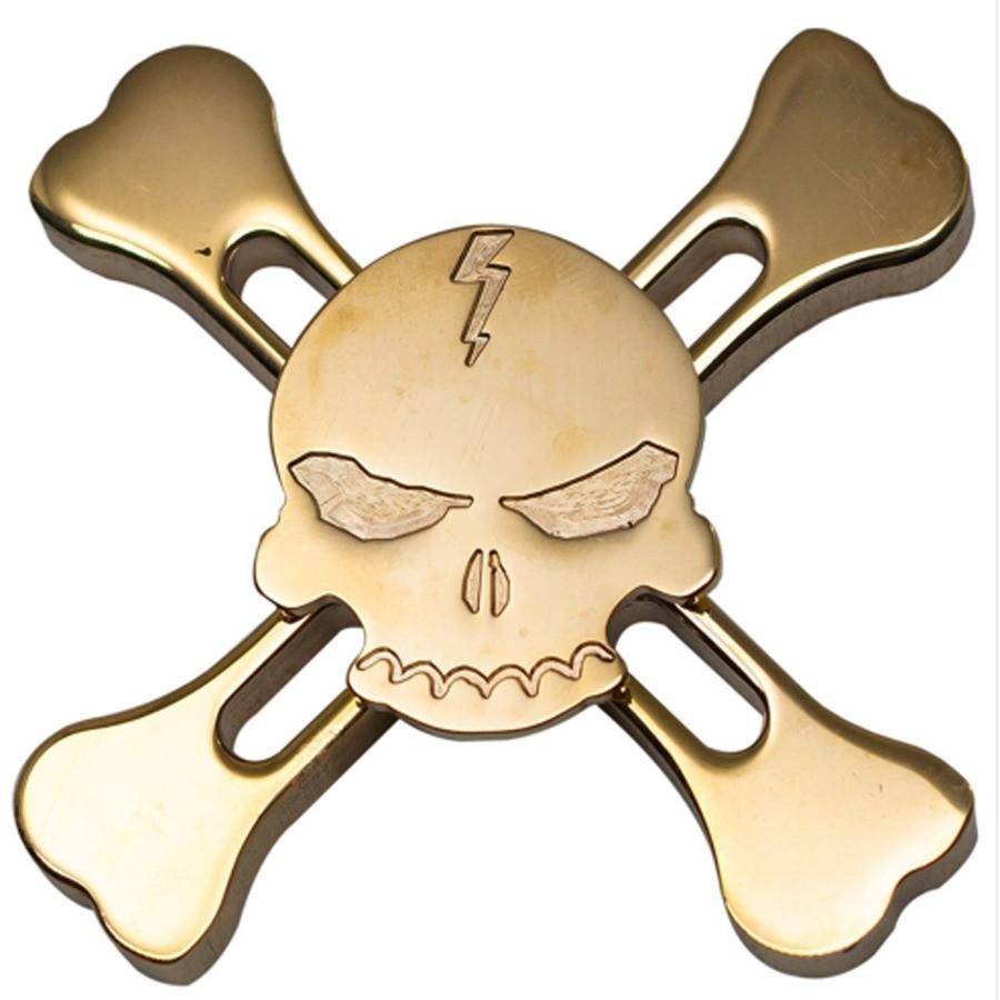 Spinner Caveira Metal Skull Gira Muito Pirata Toy rolamento ABEC12  - HARDFAST INFORMÁTICA
