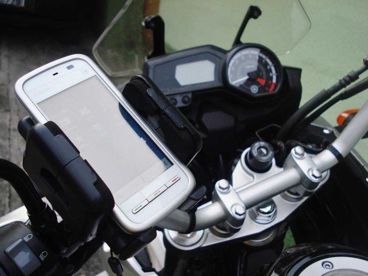 Suporte Celular Gps Moto Bike Universal Iphone Galaxy Waze Honda Triumph Bmw Yamaha  - HARDFAST INFORMÁTICA
