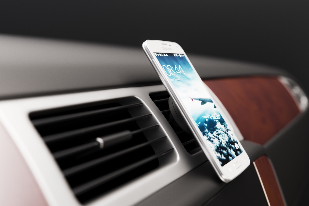 Suporte Iphone Android Celular Imã carro Veicular Saida Ar  - HARDFAST INFORMÁTICA