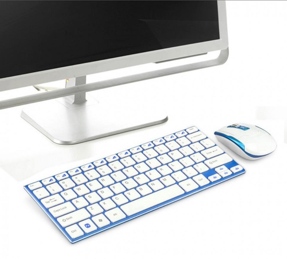 Teclado Mouse Sem Fio Wifi 2.4 Ghz Slim Ipad Tablet Galaxy Tab Usb super fino Elegante melhor material  - HARDFAST INFORMÁTICA