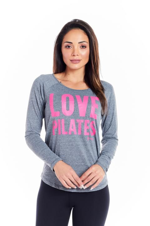 "BLUSA HAGLAN - ""LOVE PILATES"""