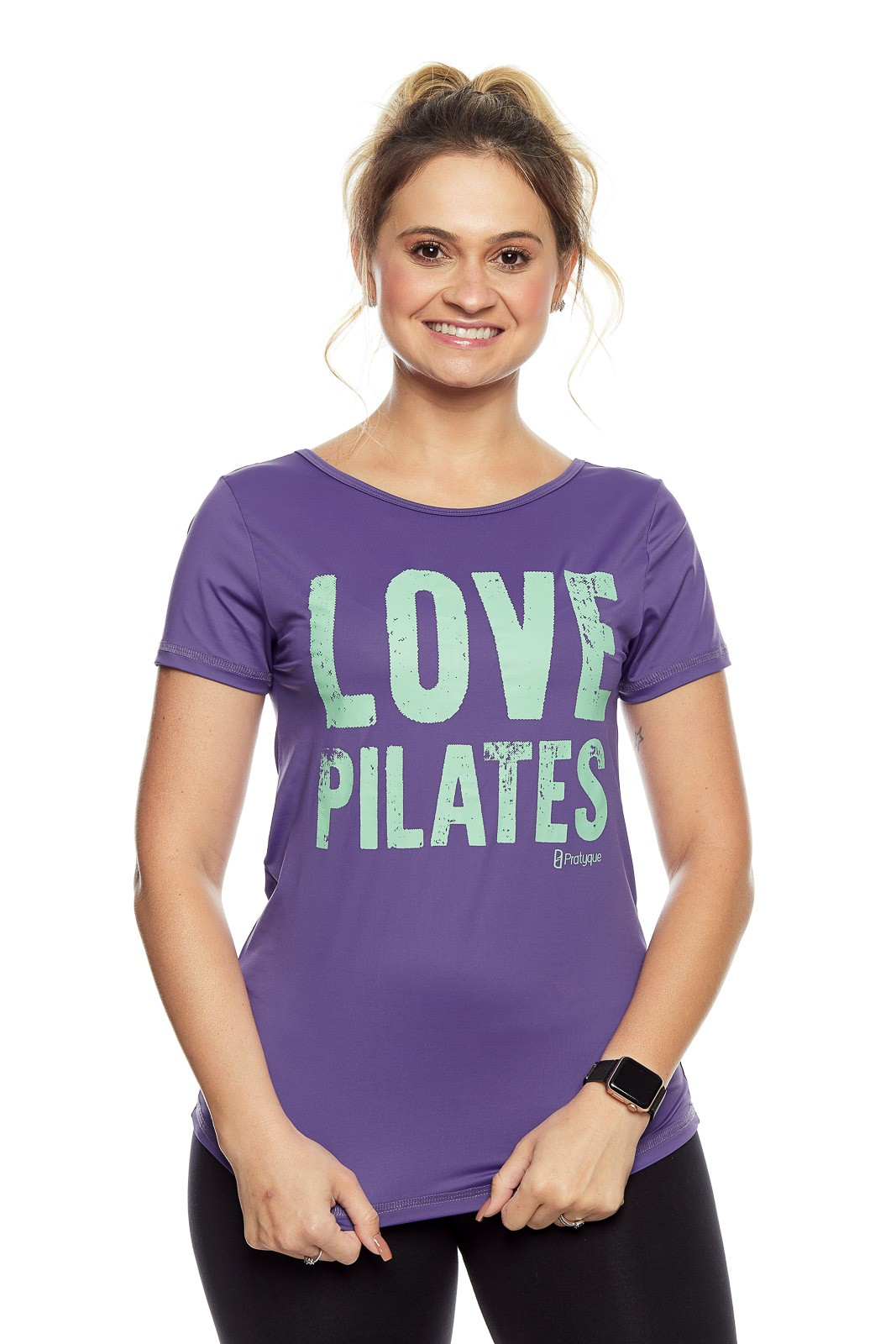 "BLUSA V BRIDGE ""LOVE PILATES"""