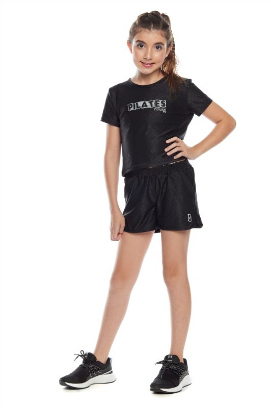 KIT 9 Conjunto Cropped e Shorts Casual