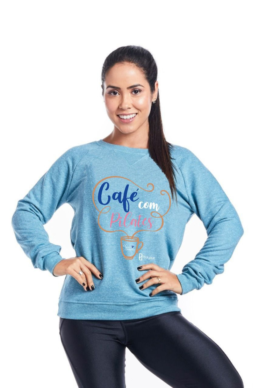 "MOLETOM - ""CAFE COM PILATES BY THALYSSA LARANGEIRAS"""