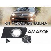Kit Farol de Milha/Neblina VW Amarok com Moldura/Botão tipo original