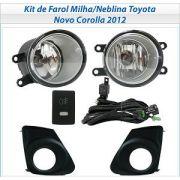 Kit Farol Auxiliar Milha/neblina Toyota Novo Corolla 2012/2013/2014