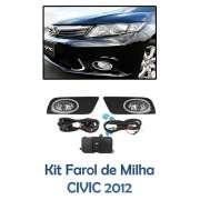 Kit Farol Auxiliar Milha/neblina Honda Civic  2012/2013/2014/2015