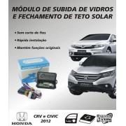 Modulo de subida  de vidros e teto solar Honda Civic 2012/2013 Honda CRV 2012/2013