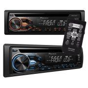 CD Player Automotivo Pioneer DEH-X1880UB - entrada USB e Auxiliar P2 frontal, Dupla Iluminação, RDS,