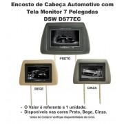 Encosto Cabeça Tela Monitor Lcd 7 Polegadas Controle Remoto