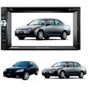 Central Multimídia Honda Civic 2001/2002/2003/2004/2005/2006 Com GPS/TV DIGITAL/CÂMERA DE RÉ