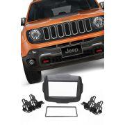 Moldura Painel DVD 2 Din Multimidia Jeep Renegade