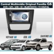 Central Multimídia Vw Gol Voyage Saveiro G6 Painel Prata