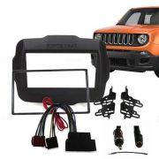 Moldura Painel Dvd 2 Din Jeep Renegade+chicote/antena Rádio AP874