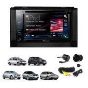 Central Multimidia Pioneer Avh-A208BT +moldura Golf Polo Fox AP485+câmera Ré