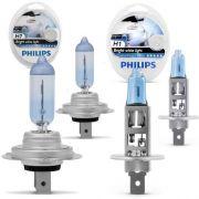 Kit Lâmpada Philips H7/h1 Cristal Vision Ultra 4300 Original