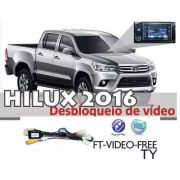 Módulo Subida Vidros+rebatimento+desbloqueio Dvd Hilux SRX  2016/2019 Park4.21CH/PARK2AU/FT-VF-TY