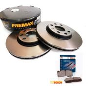 Par De Disco Freio Dianteiro Fremax Tucson/Sportage+pastilhas Bosch BD5171/BB635