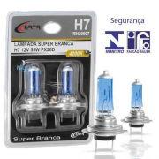 Par Lampada Super Branca H7 4200k Certa 55w C/ Inmetro