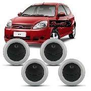 Conjunto De Difusor Ar Ford Ka 2008/2013 Com 4 Peças Prata AP1171