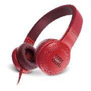 Fone De Ouvido Jbl E35 On Ear Com Controle Original Vermelho