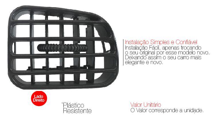 Difusor Ar Central S10 Blazer 2001 A 2011 Grafite Direito AP880 - SONNIC SOUND