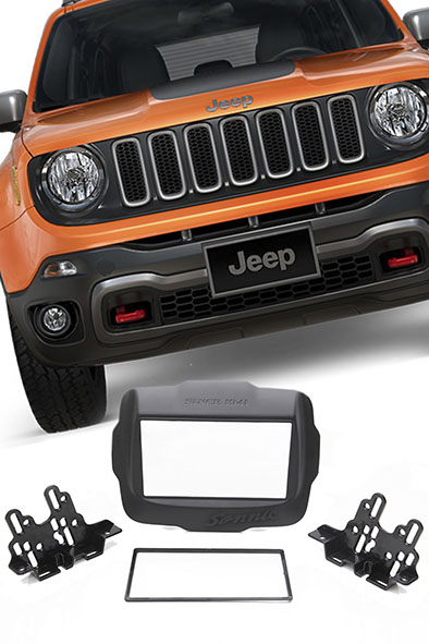 Moldura Painel DVD 2 Din Multimidia Jeep Renegade - SONNIC SOUND
