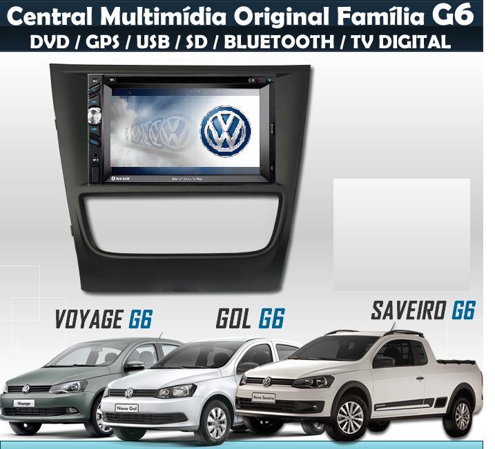 Central Multimidia EVOLVE Gol/Voyage/Saveiro G6 - SONNIC SOUND
