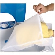 Kit Sacos Para Lavar Roupas Delicadas 3 Unidades Com Zíper 50 x 45cm G Bag Limp