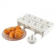 Forma Fábrica De Coxinhas Kit Modelador Para Massas Lig Brin 0105