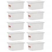 Kit 10 Caixas Plásticas Organizadoras Com Tampa Profissional 5 Litros Paramount 537