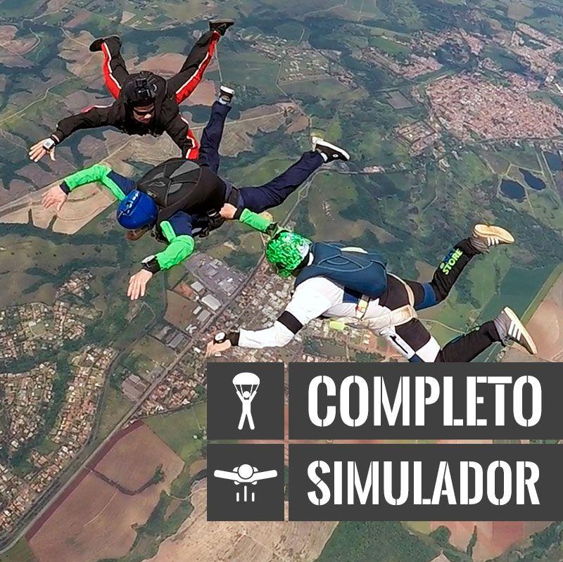 Curso de Paraquedismo AFF Completo + Treinamento em Túnel do Vento  - SkyRadical Paraquedismo