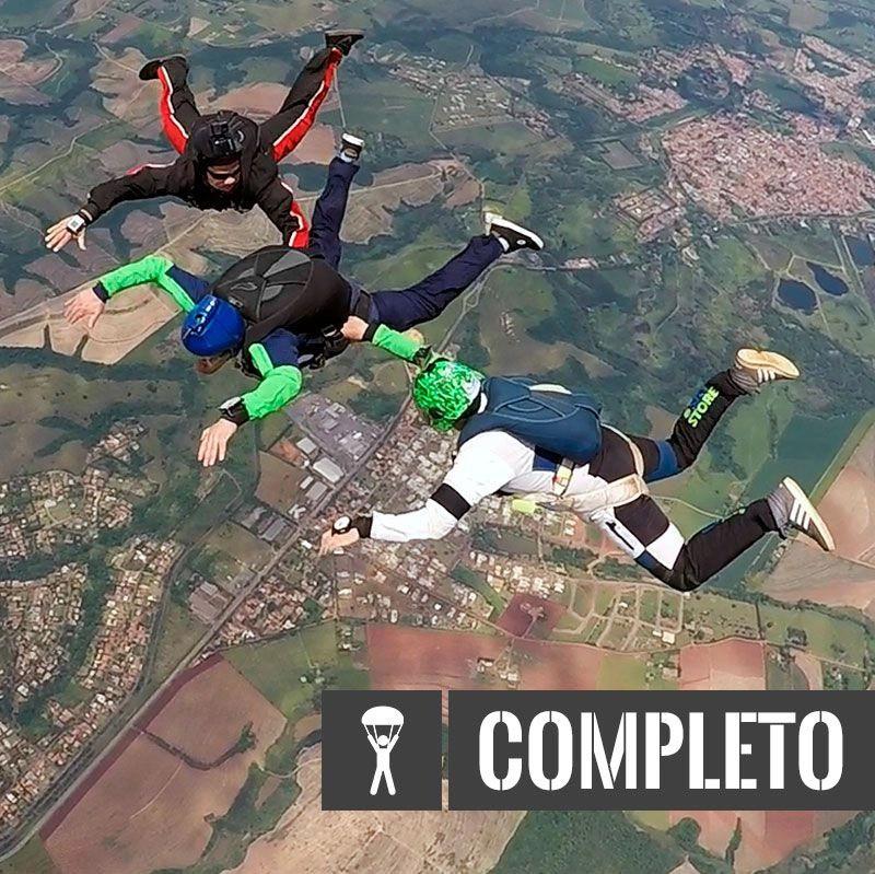 ENTRADA CURSO AFF + TÚNEL DO VENTO + ABRA + FILMAGEM  - SkyRadical Paraquedismo