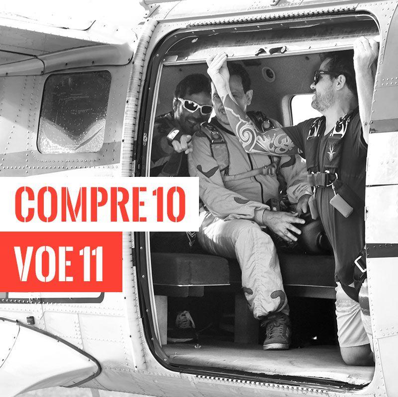 Pacote de Vagas - Compre 10 e Voe 11  - SkyRadical Paraquedismo