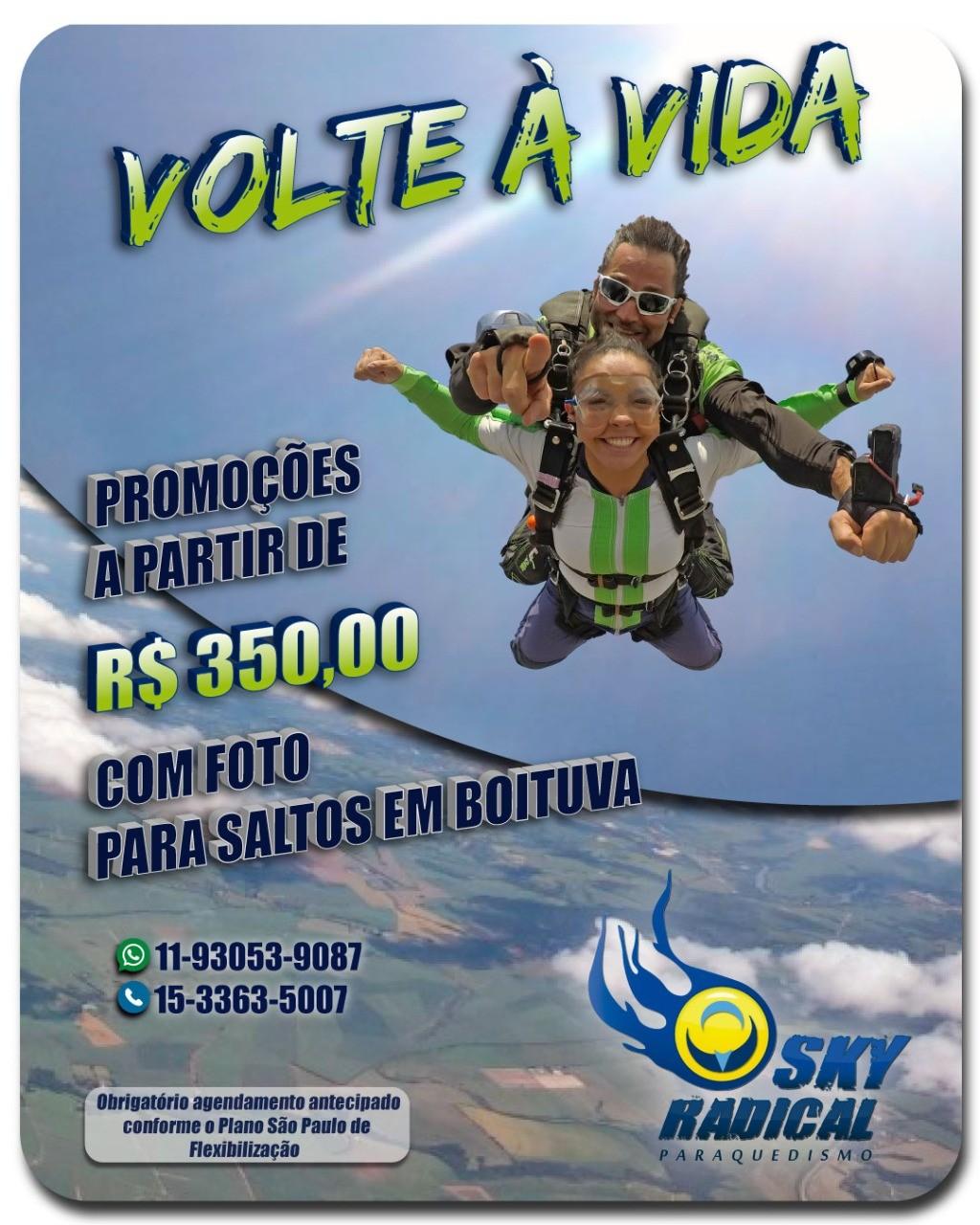 SALTO DUPLO +1 FOTO (PROMOÇÃO)  - SkyRadical Paraquedismo