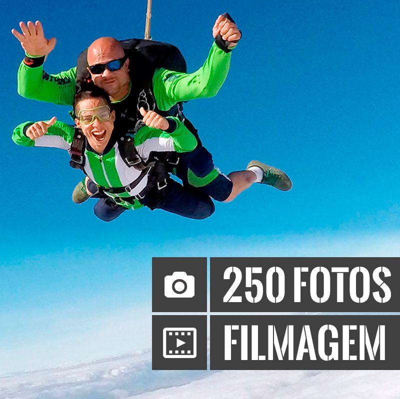 Salto Duplo com Filmagem + 250 Fotos  - SkyRadical Paraquedismo