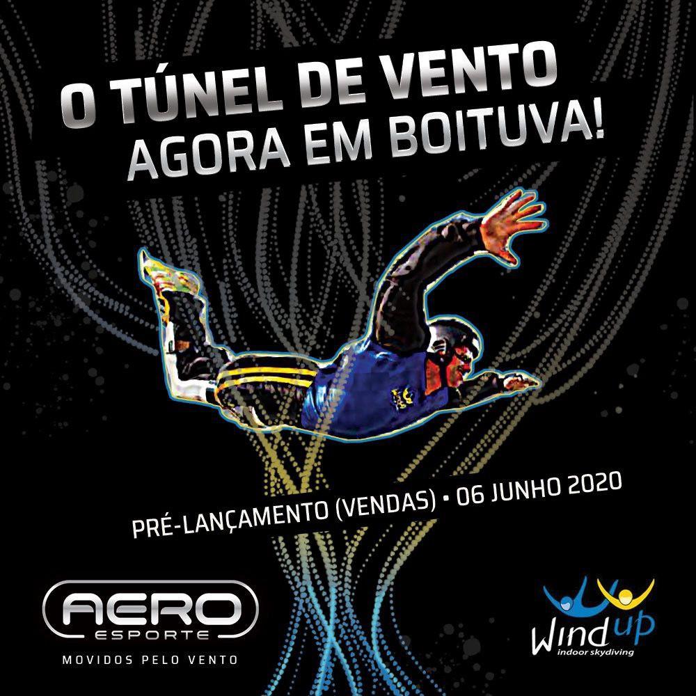 SESSÃO DE 15 MINUTOS - TÚNEL DO VENTO WINDUP - AERO ESPORTE BOITUVA (COM COACH)  - SkyRadical Paraquedismo