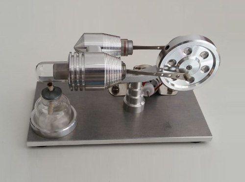 Motor Stirling Com Gerador de 5 volts para experimentos.