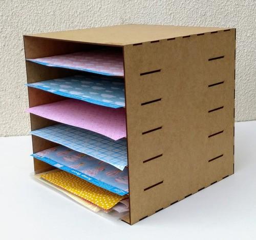 Organizador Para Folhas Scrapbook Folhas 30x30 Mdf