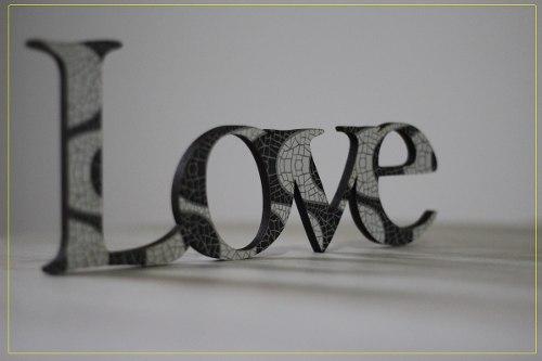 Palavra Love - Amor para decoração Em MDF 6mm