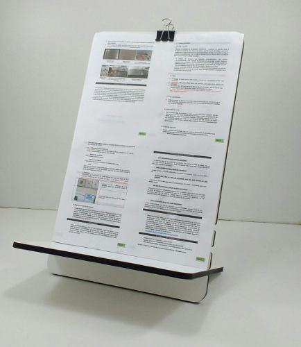 Suporte Leitura / Digitação - Para Folha Sulfite A4