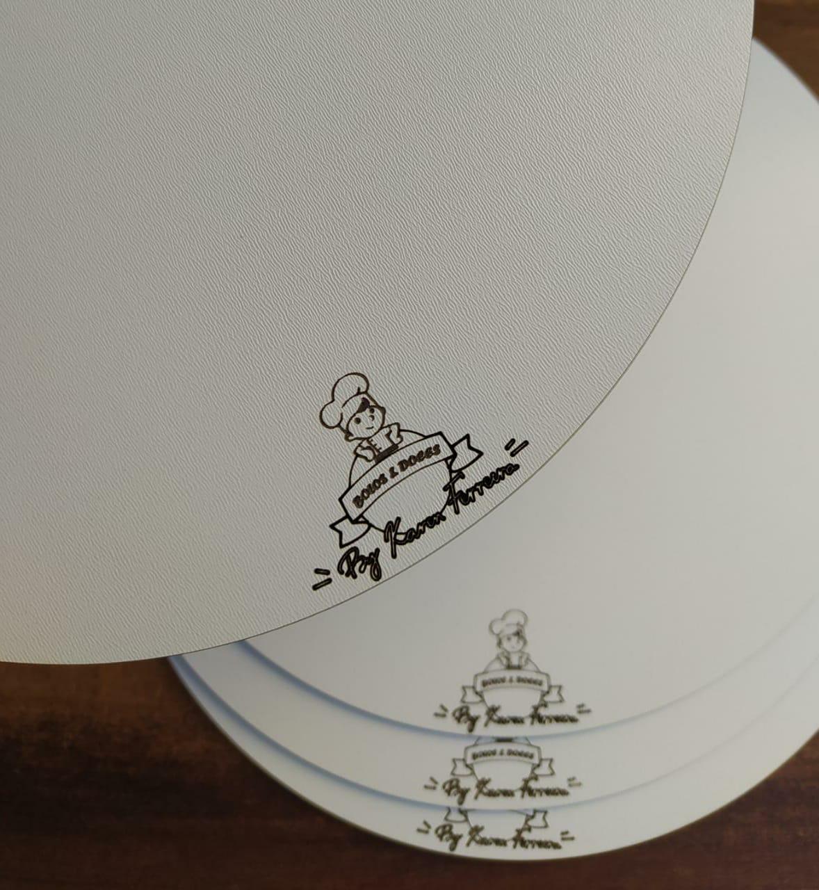Cakeboard Tábua de Bolo Personalizada MDF - 10 peças