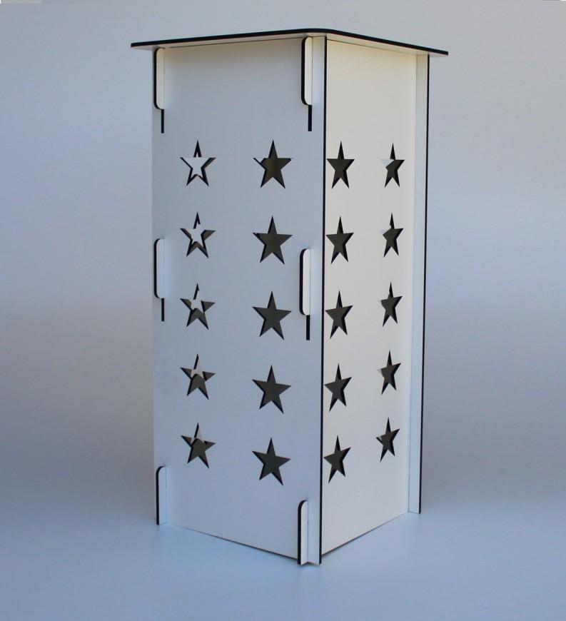 Cubo Para Festa Desmontavel Modelo Estrela