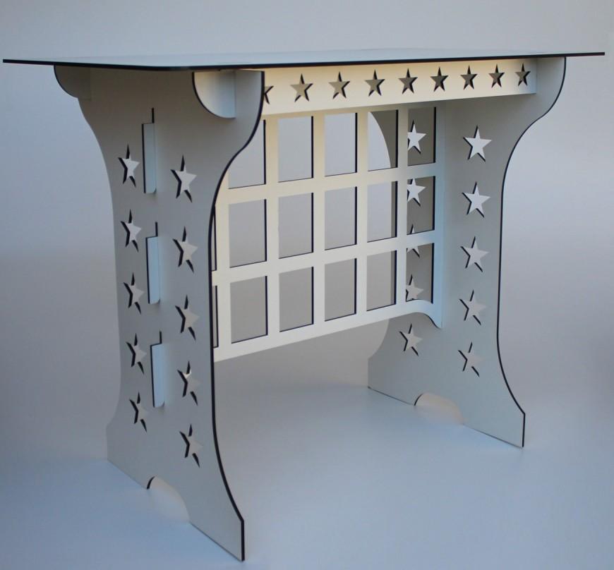 Mesa Para Festa Modelo Estrela - Desmontavel