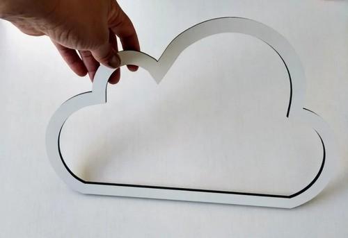 Nuvens Vazada Para Parede Mdf Branca