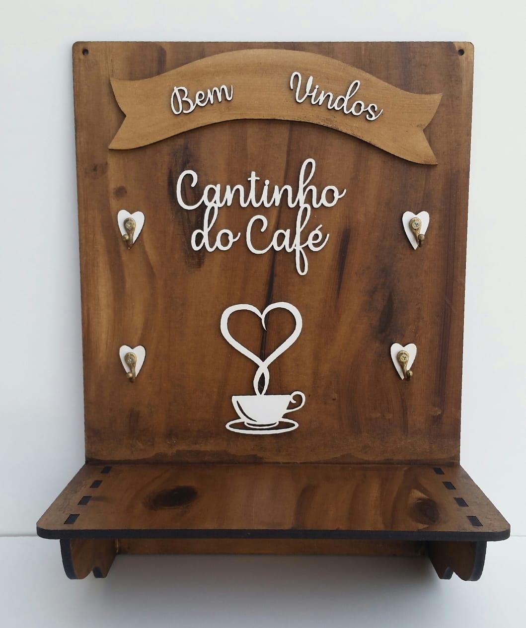 Placa Cantinho do Café - Porta Xícaras - Decoração Cozinha - MDF Decorado