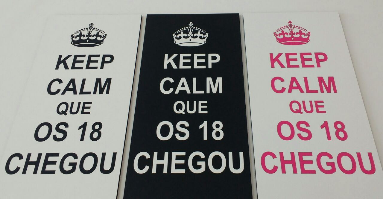 Placa Decorativa 18 Anos Keep Calm Que Os 18 Chegou