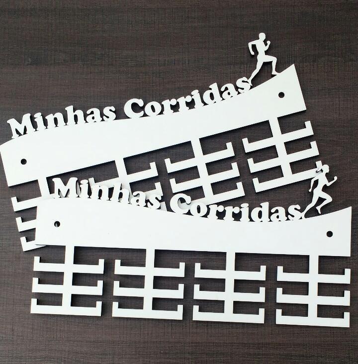 Porta Medalhas MINHAS CORRIDAS - MDF