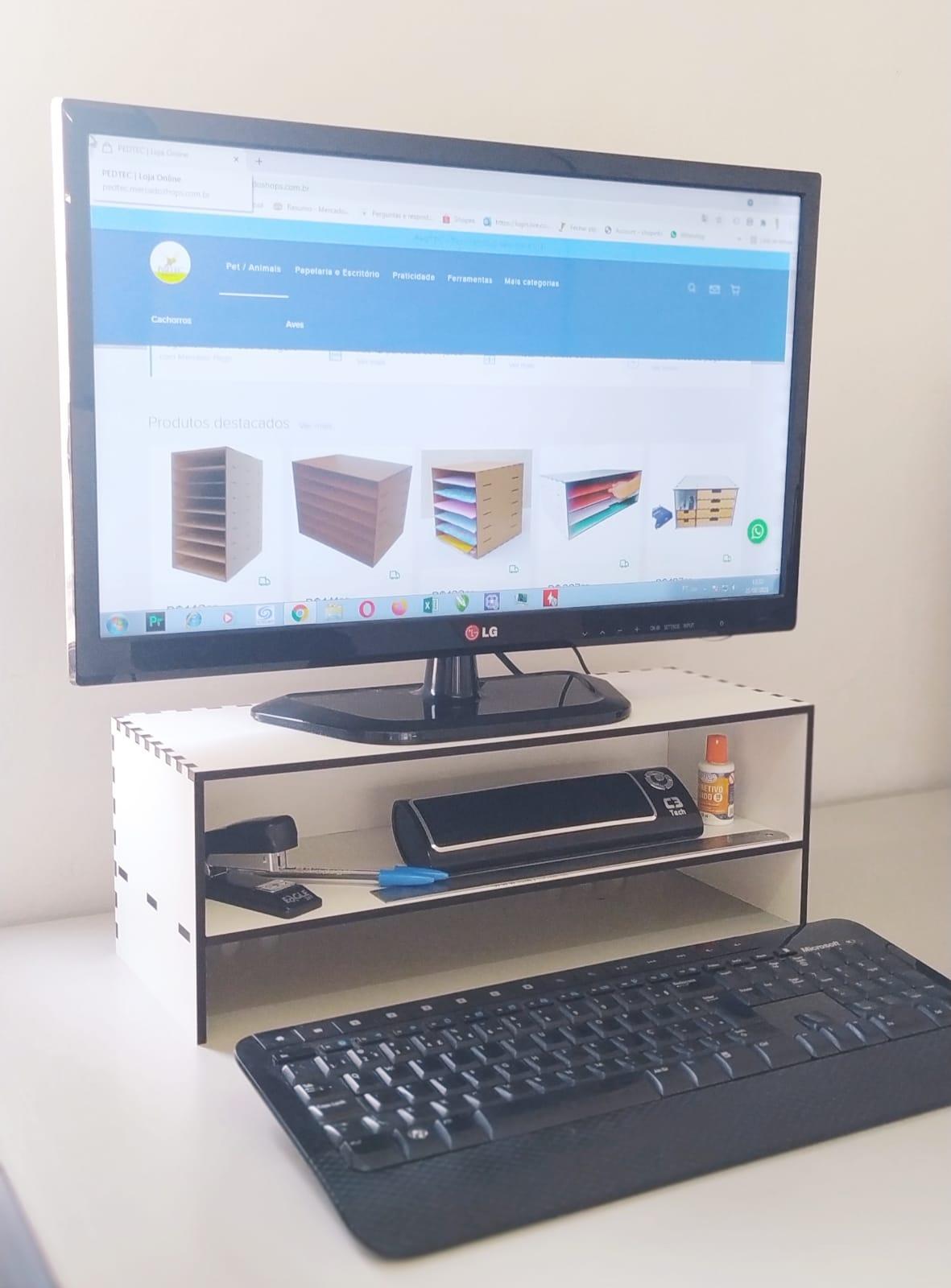 Suporte Para Monitor Computador Pc Notebook
