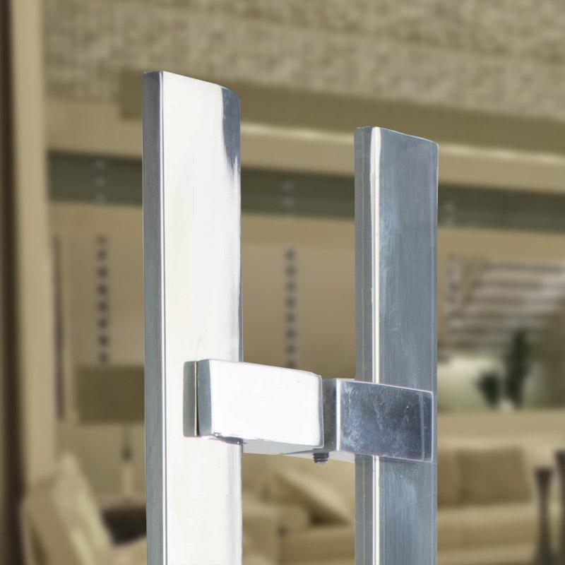 Puxador Aço Inox Polido/Cromado Para Porta Vidro Temperado Blindex (SABRE)  - Loja do Puxador